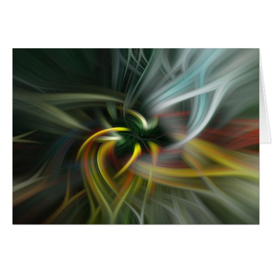 Abstract swirl of colors card