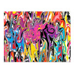 Abstract Swirl Post Card