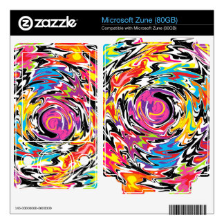 Abstract Swirl Decals For Zune