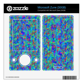 Abstract Swirl Decals For The Zune