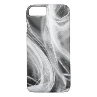 abstract swirl smoke pattern on black iPhone 8/7 case