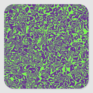 Abstract Swirl Square Sticker