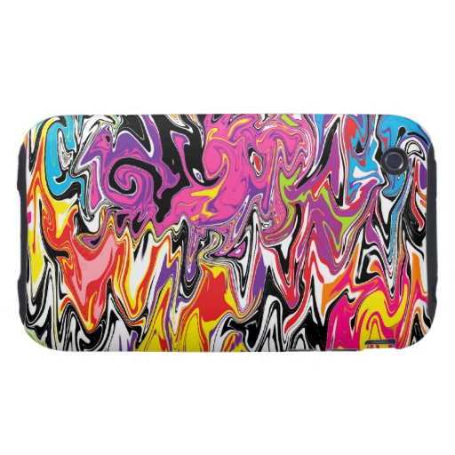Abstract Swirl Tough iPhone 3 Cases