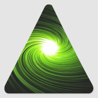 Abstract swirl. triangle sticker