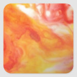 Abstract Swirl Warm Square Sticker