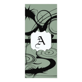 Abstract Swirls And Twirls Card