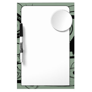Abstract Swirls And Twirls Dry Erase Board With Mirror