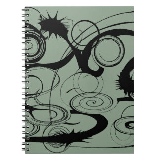Abstract Swirls And Twirls Spiral Note Book