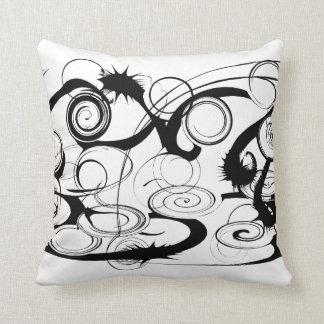 Abstract Swirls And Twirls Pillow