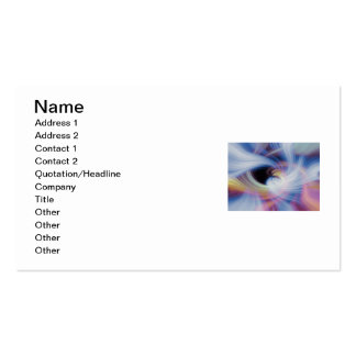 Abstract Swirls in Pink, Blue, and Orange Business Card