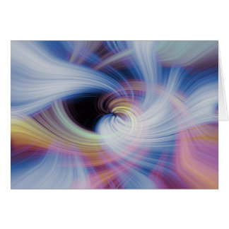Abstract Swirls in Pink, Blue, and Orange Card