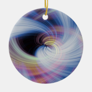 Abstract Swirls in Pink, Blue, and Orange Ceramic Ornament