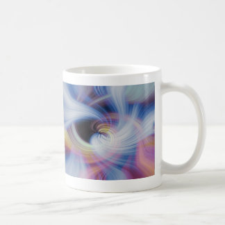 Abstract Swirls in Pink, Blue, and Orange Coffee Mug