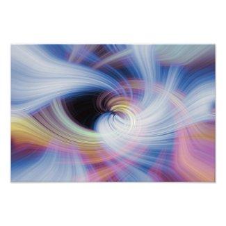 Abstract Swirls in Pink, Blue, and Orange photoenlargement