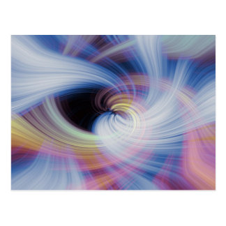 Abstract Swirls in Pink, Blue, and Orange Postcard