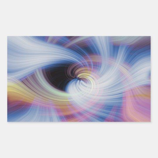 Abstract Swirls in Pink, Blue, and Orange Rectangular Sticker