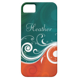 Abstract Swirls iPhone 5 Barely There Case