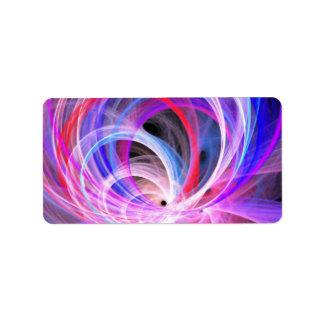 Abstract Swirls Label
