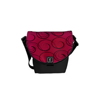 Abstract Swirls on Magenta Courier Bag