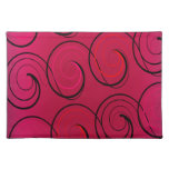 Abstract Swirls on Magenta Placemat