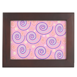 Abstract Swirls on Pink Memory Box