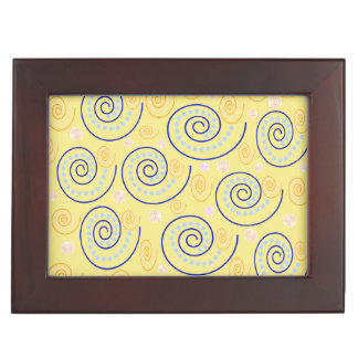 Abstract Swirls on Yellow Memory Box