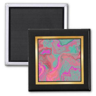 Abstract swirls pattern Photo Magnet