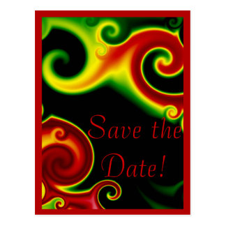 Abstract Swirls  Save the Date Postcard