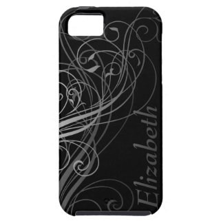 Abstract Swirls with Area for Name iPhone 5 Case