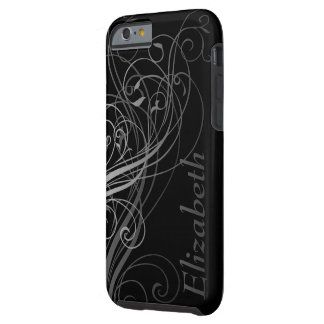 Abstract Swirls with Area for Name Tough iPhone 6 Case