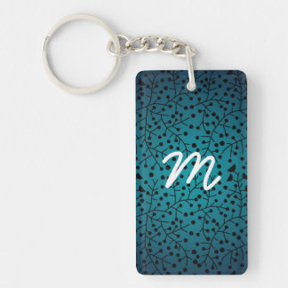 Abstract Swirls with Bold Design Keychain