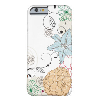 Abstract Swirly Floral Barely There iPhone 6 Case