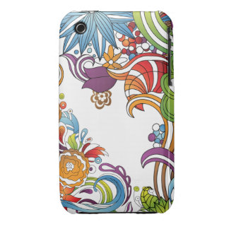 Abstract Swirly Floral iPhone 3 Case