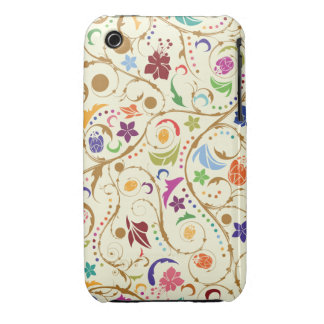 Abstract Swirly Floral iPhone 3gs Case
