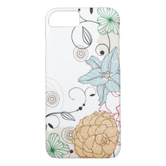 Abstract Swirly Floral iPhone 8/7 Case