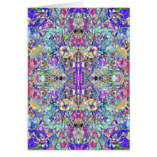 Abstract Symmetrical Colors Card