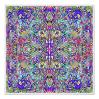 Abstract Symmetrical Colors Poster
