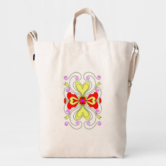Abstract Symmetrical Flower Duck Bag