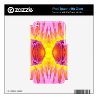 Abstract symmetrical Lotus Decals For iPod Touch 4G