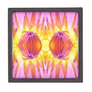 Abstract symmetrical Lotus Jewelry Box