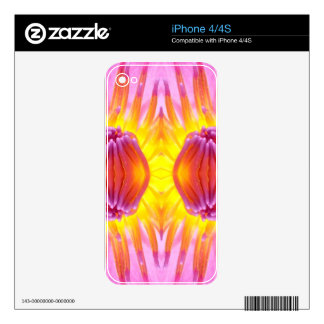 Abstract symmetrical Lotus Skins For iPhone 4S