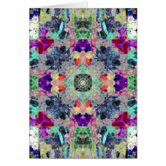 Abstract Symmetry of Colors Card