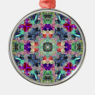 Abstract Symmetry of Colors Metal Ornament