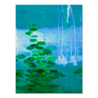 Abstract Symphony In Blue And Green Poster