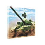 Abstract T-72 Soviet Military Tank Wrapped Canvas Canvas Print
