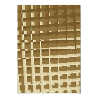 Abstract Tan Mosaic Tiles Brown Camo Pattern 5x7 Paper Invitation Card