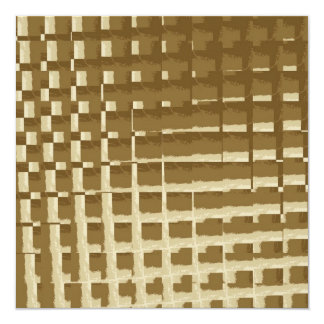 Abstract Tan Mosaic Tiles Brown Camo Pattern 5.25x5.25 Square Paper Invitation Card