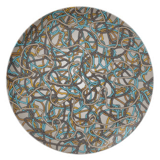 Abstract Tangled Threads Plate