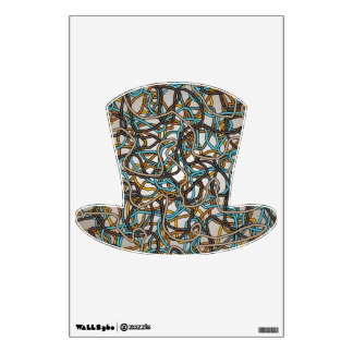 Abstract Tangled Threads Top Hat Wall Decal