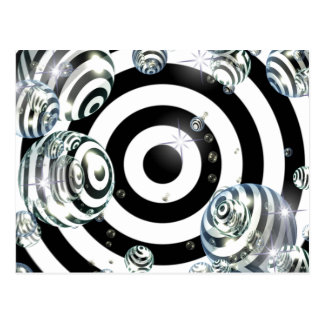 Abstract Target Postcard